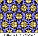 geometric arabic ornament ... | Shutterstock .eps vector #1197851527