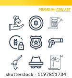 simple set of  9 outline icons... | Shutterstock .eps vector #1197851734