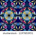 geometric seamless pattern.... | Shutterstock .eps vector #1197853951