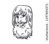 bearded ethnic man silhouette... | Shutterstock .eps vector #1197854371