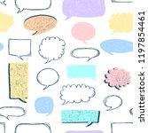 speech bubbles pattern. message ... | Shutterstock .eps vector #1197854461