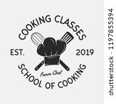 cooking classes vintage logo.... | Shutterstock .eps vector #1197855394