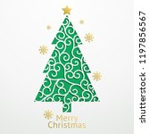 christmas background paper cut... | Shutterstock .eps vector #1197856567