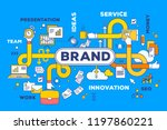 vector creative business... | Shutterstock .eps vector #1197860221