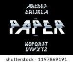 alphabet vector of paper...   Shutterstock .eps vector #1197869191