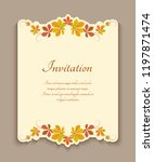 vector invitation template with ... | Shutterstock .eps vector #1197871474