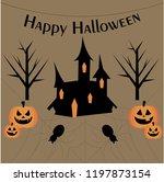 vector happy halloween vector... | Shutterstock .eps vector #1197873154