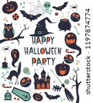 happy halloween vector... | Shutterstock .eps vector #1197874774