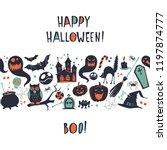 happy halloween vector... | Shutterstock .eps vector #1197874777