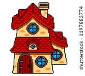pixel art fairy tale house...   Shutterstock .eps vector #1197883774