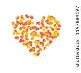 oak  maple  wild ash rowan... | Shutterstock .eps vector #1197884197