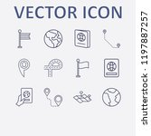 outline 12 country icon set.... | Shutterstock .eps vector #1197887257
