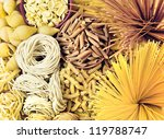 different types of pasta. whole ... | Shutterstock . vector #119788747