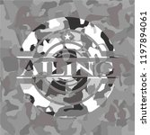 ailing on grey camouflaged...   Shutterstock .eps vector #1197894061