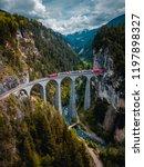 glacier express in switzerland  ...   Shutterstock . vector #1197898327
