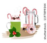christmas theme  cup of coffee  ... | Shutterstock .eps vector #1197899344