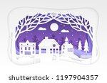 winter town   modern vector... | Shutterstock .eps vector #1197904357