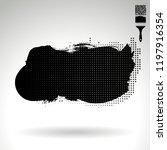 black brush stroke and texture. ... | Shutterstock .eps vector #1197916354