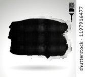 black brush stroke and texture. ... | Shutterstock .eps vector #1197916477