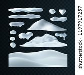 vector set of snow caps ... | Shutterstock .eps vector #1197917257