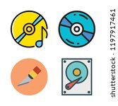 disk icon set. vector set about ... | Shutterstock .eps vector #1197917461
