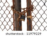 Isolated Locked Fence  With...