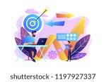 businessman with laptop  target ... | Shutterstock .eps vector #1197927337