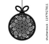 decorative lace christmas ball... | Shutterstock .eps vector #1197927811