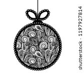 decorative lace christmas ball... | Shutterstock .eps vector #1197927814