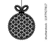 decorative lace christmas ball... | Shutterstock .eps vector #1197927817