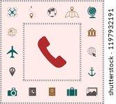 telephone handset symbol ... | Shutterstock .eps vector #1197932191