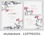 set wildflowers and plants....   Shutterstock .eps vector #1197932251
