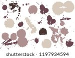 hand drawn set of sepia colored ...   Shutterstock .eps vector #1197934594