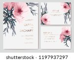 set wildflowers and plants....   Shutterstock .eps vector #1197937297
