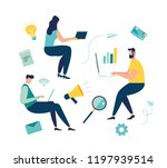 vector illustration of people... | Shutterstock .eps vector #1197939514