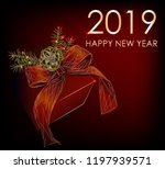 2019. happy new year. abstract... | Shutterstock .eps vector #1197939571