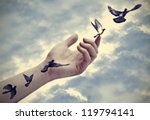 illustration  bird tattoos come ... | Shutterstock . vector #119794141
