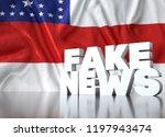 3d render  fake news lettering... | Shutterstock . vector #1197943474