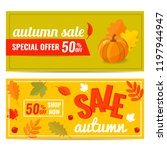 set of autumn sale discount...   Shutterstock .eps vector #1197944947