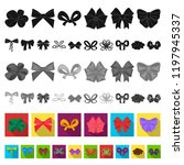 multicolored bows flat icons in ... | Shutterstock .eps vector #1197945337