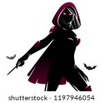 witch   sorceress with the... | Shutterstock .eps vector #1197946054