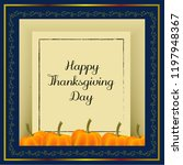 happy thanksgiving typography... | Shutterstock .eps vector #1197948367