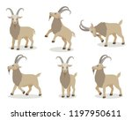 set of goat in different poses... | Shutterstock .eps vector #1197950611