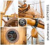 Ancient Sailing Vessel Collage...