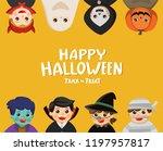 happy halloween. children... | Shutterstock .eps vector #1197957817