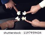 closeup of business people... | Shutterstock . vector #1197959434