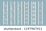 panels with floral pattern.... | Shutterstock .eps vector #1197967411