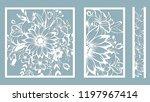 set template for laser cutting... | Shutterstock .eps vector #1197967414