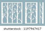 birch grove background. vector... | Shutterstock .eps vector #1197967417