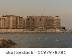 beach plage marquet in a summer ...   Shutterstock . vector #1197978781